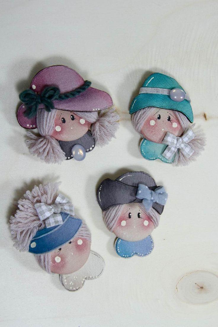 Bambine su bottone   Country Creations