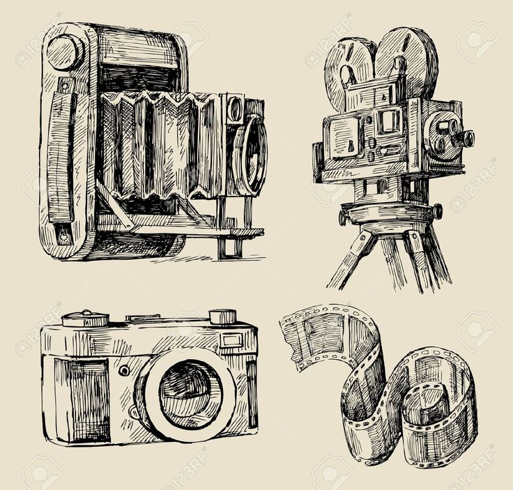 drawing old camera - Hledat Googlem