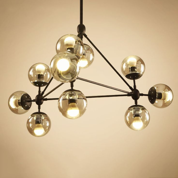 Lican Lustres wrought iron industrial Pendant Lamp for Dining room Bedrooms clear Glass pendant lights muti heads light fixtures