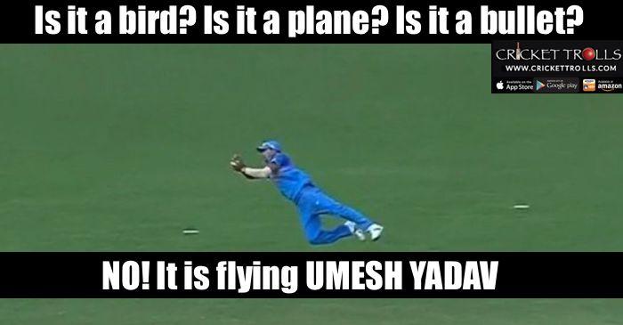 #INDvsNZ #UmeshYadav  Umesh Yadav takes a blinder to send back Corey Anderson. - http://ift.tt/1ZZ3e4d