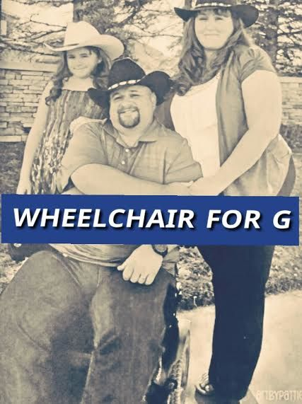 """CLICK HERE for G's Story on YouTube  WHEELCHAIR FOR G  Stephen Gallegos, or """"G"""" as he wascalled on the job, was a deputy sheriff at a local Denver area department for over ten years. He was hired in December 2002. He enjoyed serving and protecting as a public servant. That all came to an abru..."""