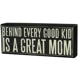 Great Mom Box Sign