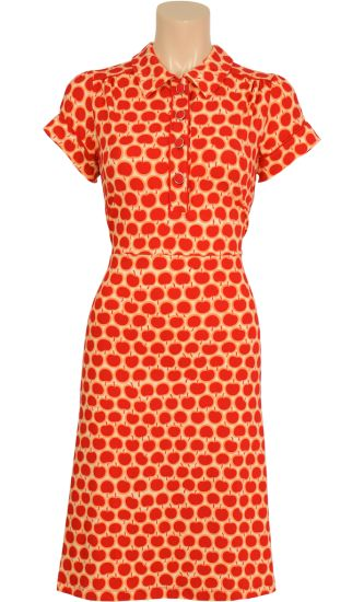 Vintage inspired summer polo apple dress - King Louie SS2014