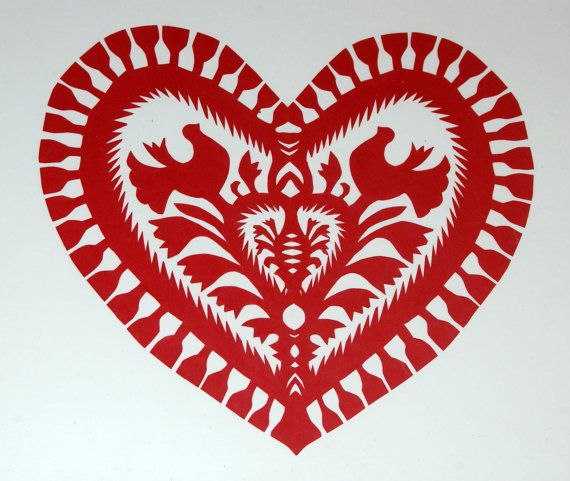 Original Papercut Wycinanki Polish Folk Art.