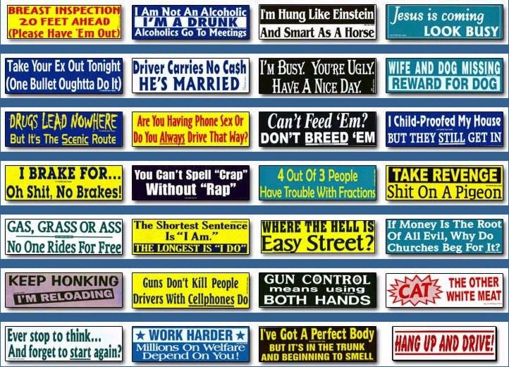 Bumper sticker me comment bumper sticker bumper stickers sayings