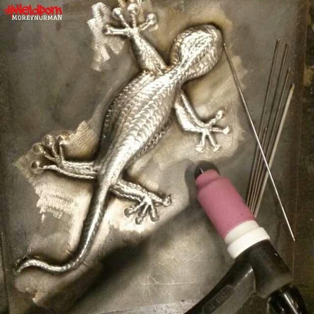 Tig welded lizard  WOW!!!!!!