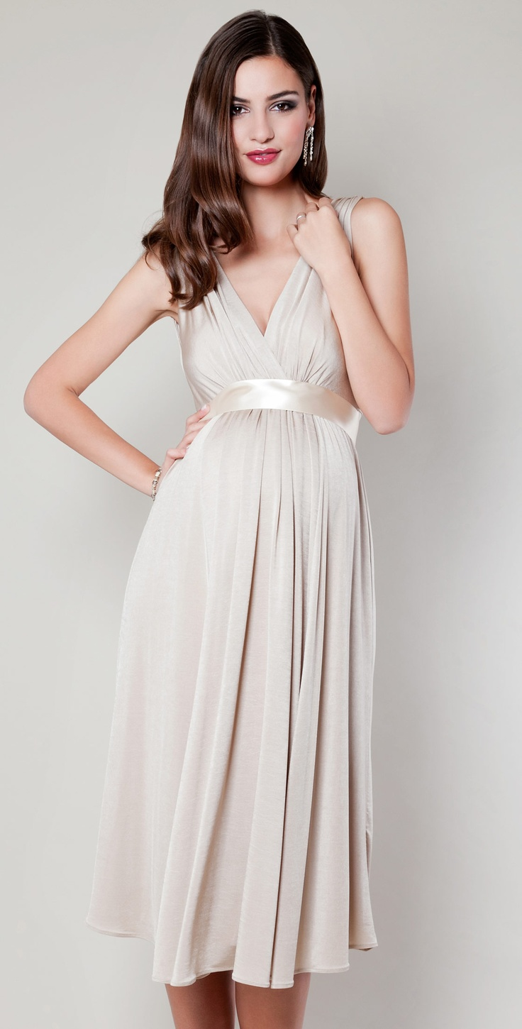 Anastasia Maternity Dress Short (Gold Dust) - Maternity Wedding Dresses, Evening Wear and Party Clothes by Tiffany Rose