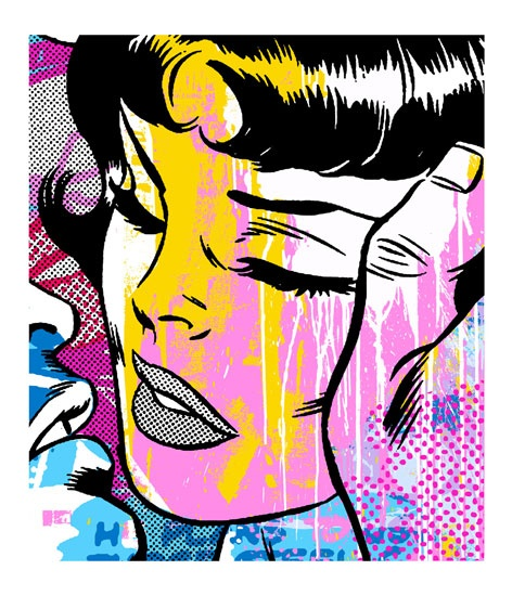 Perfect fusion...1960s pop art with a contemporary 2000s touch. Encapsulates the theme.