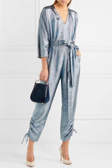 a813a350080 STELLA MCCARTNEY Padma fabulous blue lamé jumpsuit in 2018