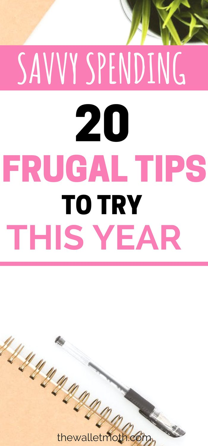 Try this 20 frugal living tips for your thriftiest year yet! Learn to save more money this year with these easy money hacks that can be made from home.  #savemoney #frugalliving #budget