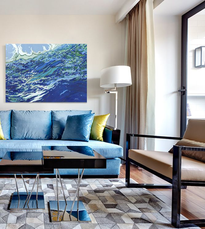 Swell Sway 2016 Sold Commission Available Prints Coastal Painting Margaretjuul Original ArtLiving