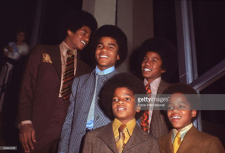 The Jackson 5 attend the NAACP Image Awards, Los Angeles, California, November 19, 1970. From left, Jackie Jackson, Tito Jackson, Michael Jackson, Jermaine Jackson, and Marlon Jackson.