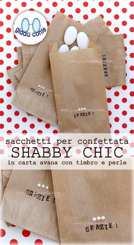 SACCHETTI PER CONFETTATA 'Shabby Chic' di giadacontewedding
