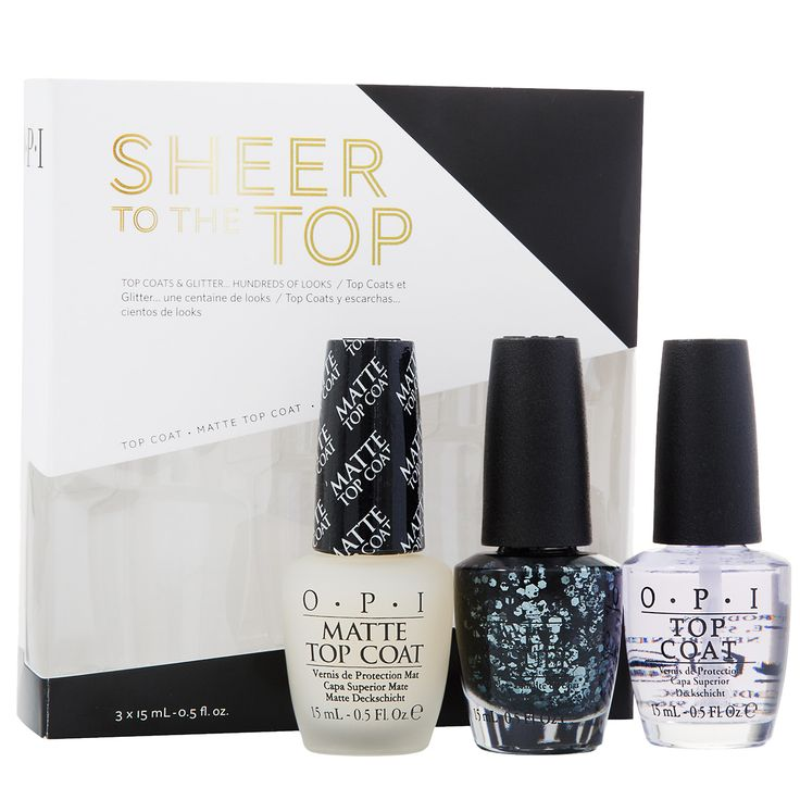 Bazarchic - Coffret Sheer to The Top 3x15 ml Description... Coffrets de 2 Top Coats & 1 vernis à ongles - Top Coat Mat - Top Coat Classique - Vernis Comet in The Sky  Coloris... Transparent Comet in the Sky  Contenance... 3x15 ml 15€ au lieu de 25€