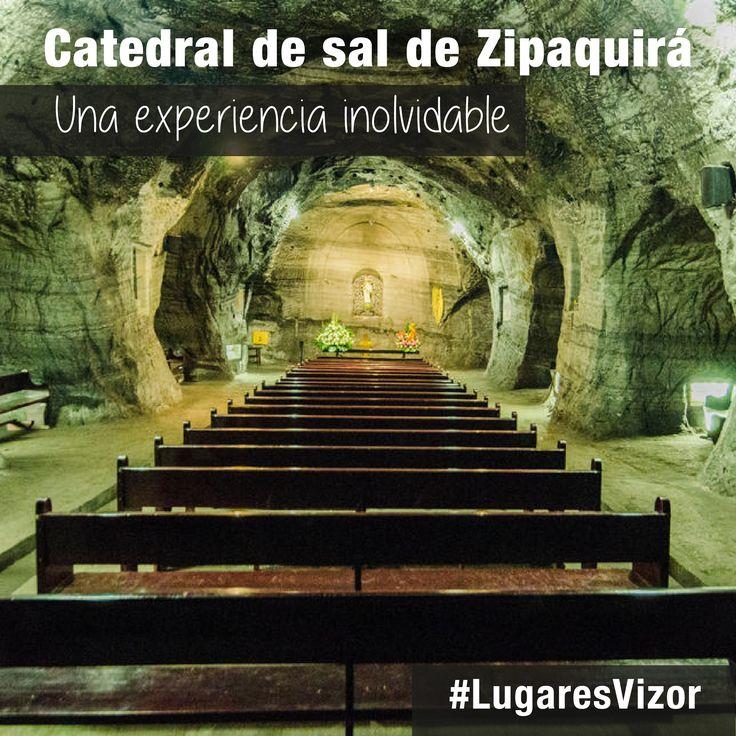 Una nueva experiencia comienza en la Catedral de sal de Zipaquirá.  #Colombia #LugaresVizor www.vizormobil.com