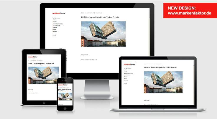 Re-Design für markenfaktor.de  Heller, leichter und wie gewohnt responsive: Die Website des Blogs erscheint seit heute mit modernisierter Optik!  → www.markenfaktor.de  Design powered by Elmastudio