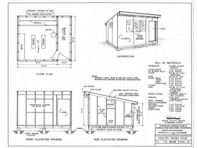 free chicken coop house plans