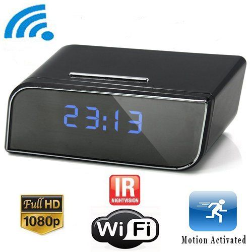 DareTang P2P Wifi Pinhole Hidden Alarm Clock Camera Mini Spy Clock Camera P2P Remote Control Wi-fi Live View (Real-time Video By Wifi Mobile Phones Computer) with 12pcs X-red Night Vision Online Camera1080P https://wirelesssecuritycamerasusa.info/daretang-p2p-wifi-pinhole-hidden-alarm-clock-camera-mini-spy-clock-camera-p2p-remote-control-wi-fi-live-view-real-time-video-by-wifi-mobile-phones-computer-with-12pcs-x-red-night-vision-online-cam/