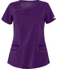 Blusa Médica Butter-Soft Scrubs por UA™ con Cuello Asimétrico y 4 Bolsillos