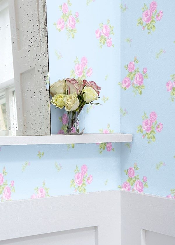 Shabby Chic Wallpaper Is The Perfect Background For Any Shabby Chic Style.