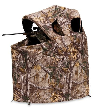 Ameristep Deluxe One Person Tent Chair Blind - Realtree Xtra