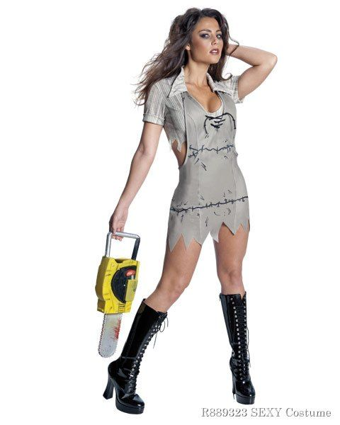 Sexy Texas Chainsaw Massacre Miss Leatherface Costume,$39.96