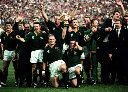 Wow, jubilation when the Springboks won the 1995 Rugby World Cup