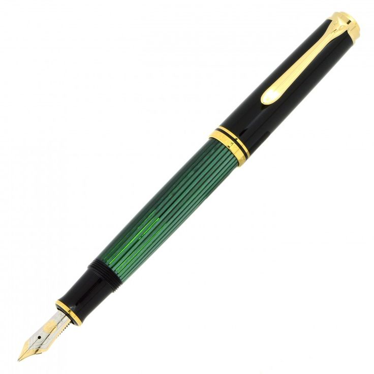 Fountain Pen PELIKAN Souveran M 600 GREEN-black NIB 18K - MarteModena