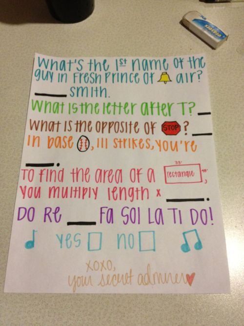 ok, you can NOT say that this is not freaking adorable. I would LOVE it if a guy did this to ask me out