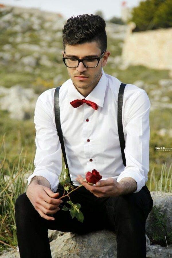 Handsome Men Looks with Suspenders (6)