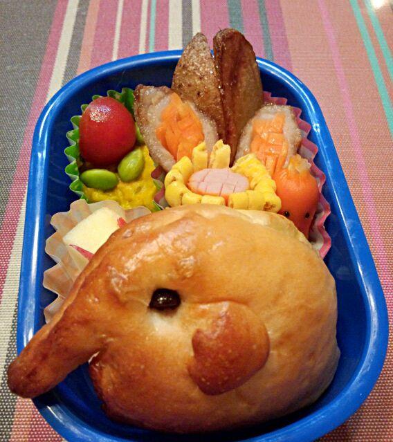 10回目(10月)の息子のお弁当♪ ぞうさんサンドイッチ♪ - 2件のもぐもぐ - 幼稚園お弁当(年少) by TSUKI