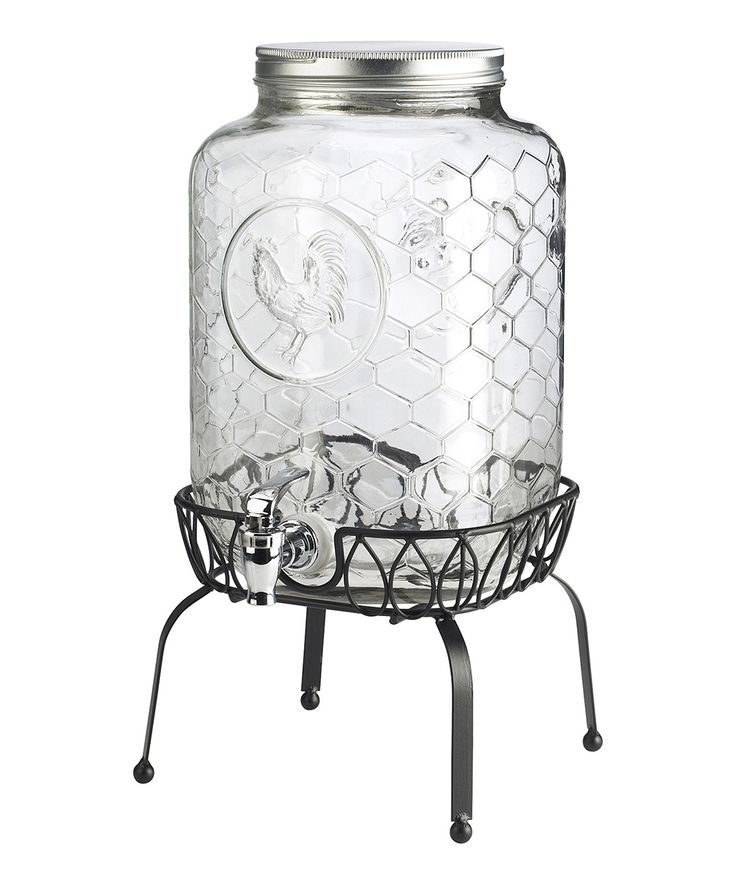 44.99-Global Amici Gallo Nero Beverage Dispenser & Stand | zulily 8 W X 8 H / HOLDS 270 OZ