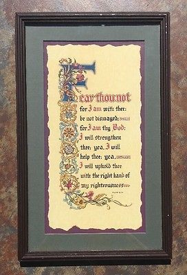 VTG Scripture Fear Thou not for I am with thee be not dismayed Isaiah Bible  | eBay