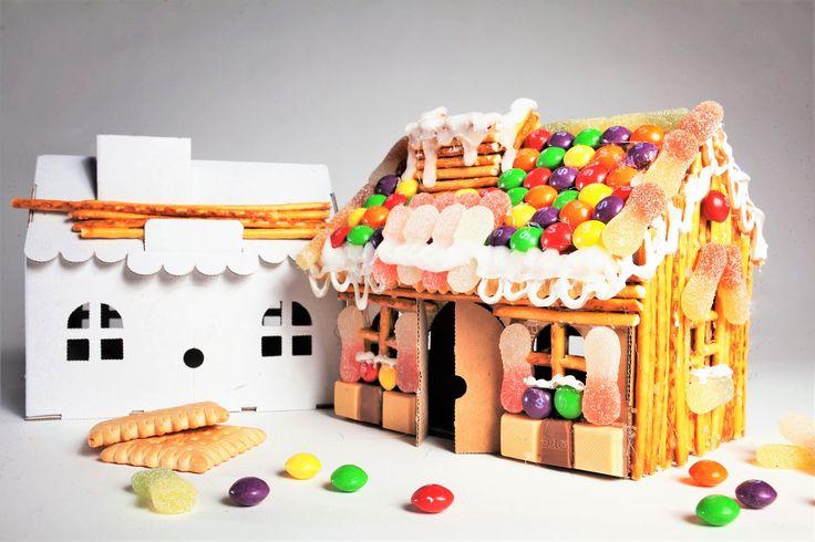 Sweet cardboard house Candy cardborad house Słodki Domek Skarbonka z tektury Domek DIY