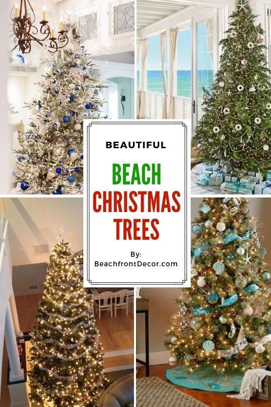 25+ Beach Christmas Tree Ideas Christmas Beach Decor Beach