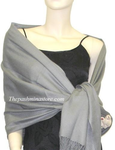There is nothing as smooth as silk, and The Pashmina Store is proud to bring you the finest quality Silver Grey pashmina wraps made with 70% top-quality pashmina wool and 30% luxurious..