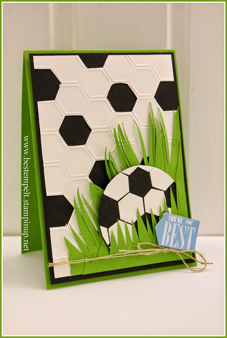 Stampin`Up! Hexagon, Soccer, Father´s Day Card, Fußball