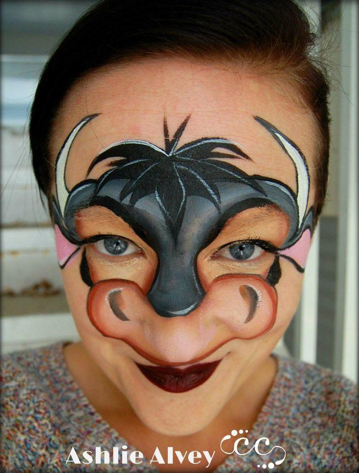 Ashlie Alvey Bull Cow Face Painting Design
