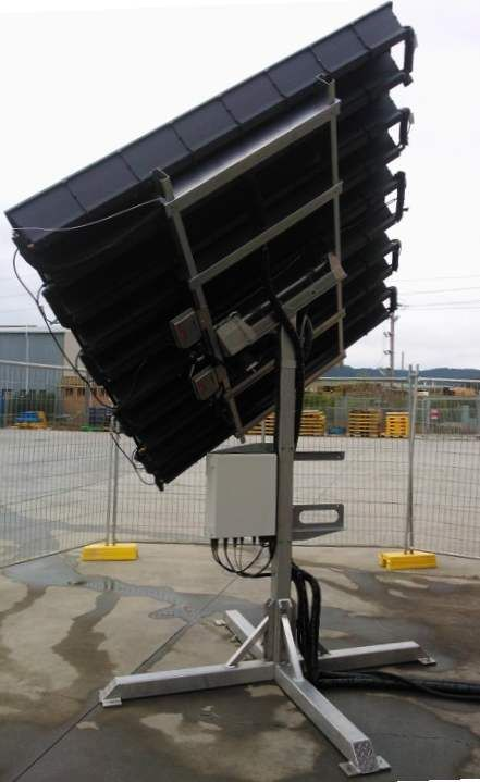 This is a tracking solar PV system that also produces hot water. It won the Electronics News Future Award for the Environment in 2012.  We developed the core electronics and tracking systems including a sun position sensor.