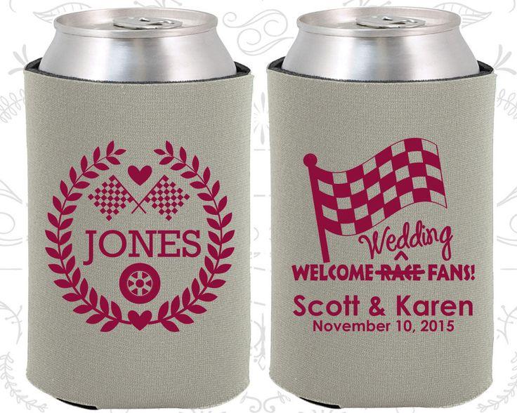 Welcome Wedding Race Fans, Racing Flags, Checkered Flag, Country Wedding Favors, Race Car Wedding Favors, Wedding Items, Custom Coolie (589)