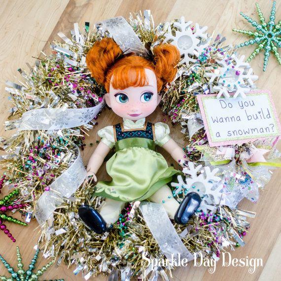 Anna Doll Disney Frozen Birthday Decorations Frozen Party Ideas by SparkleDayDesign