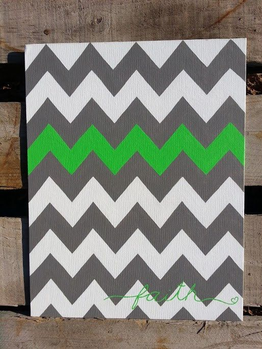 Personalized Chevron Painting by DreamImagineCreate on Etsy, $15.00
