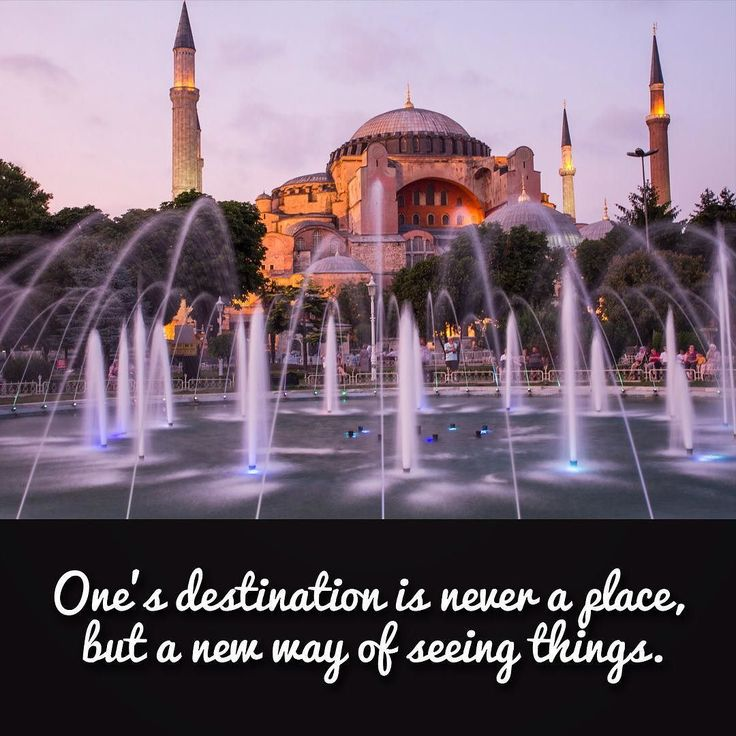 Ones destination is never a place but a new way of seeing things. Henry Miller #travel  #istanbul #tourism #travelquotes