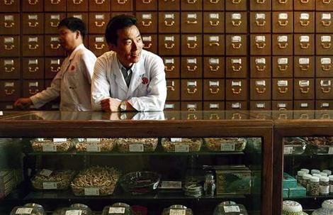 Alternative therapies … Jianping Ma, whose       dispensary, Beijing Tong Ren Tang, contains more than 1000 herbs and tonics.