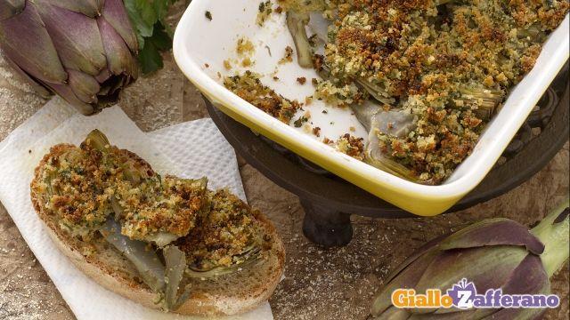Carciofi al gratin (artichokes)