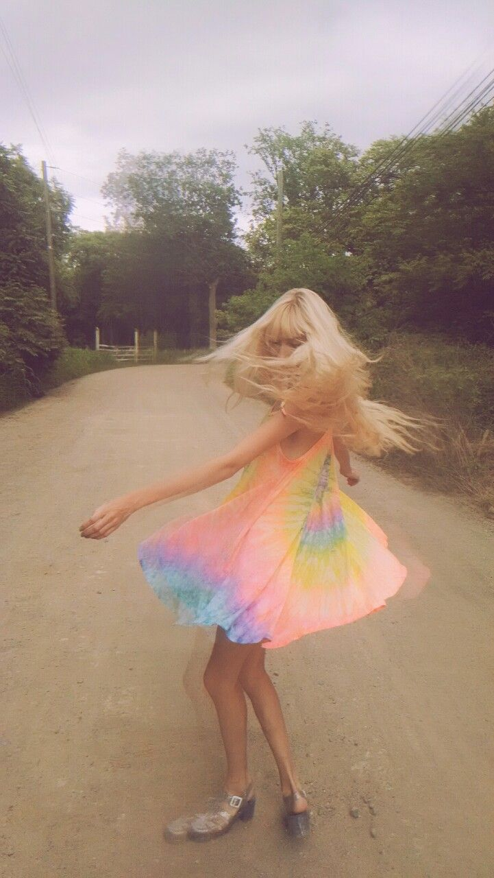 So ethereal. The colors on this dress are just so perfect. Rainbow in motion.
