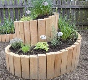 raised bed herb spiral 300x272 Raised Garden Bed Ideas