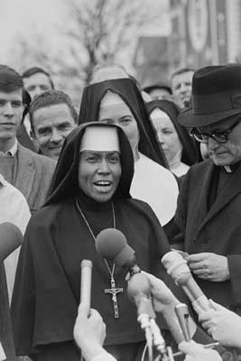 Sister Antona Ebo, a Franciscan nun who marched across the Selma Bridge in 1965