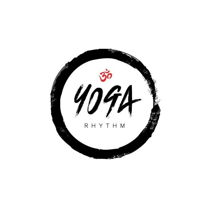 Yoga Rythm - logo by Oliver Whyte - circle (wine stain), clean color palette.  Strong.  Edgy font.