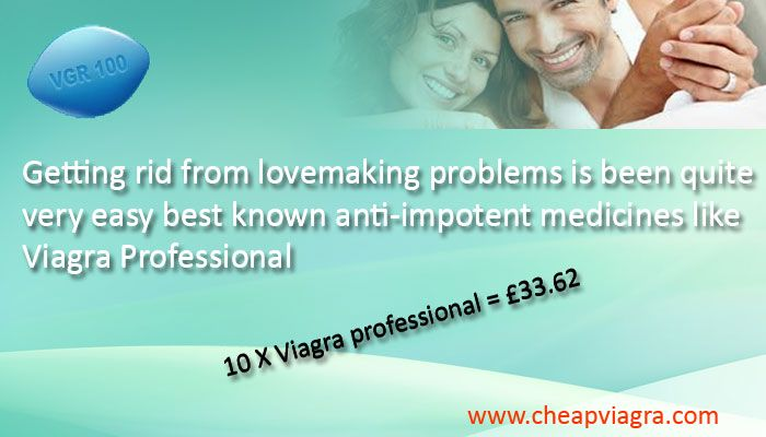 Viagra Professional is a new generation extra-strength medicine for the treatment of erectile dysfunction, based on a well known sildenafil citrate, the active ingredient in regular Viagra and other similar ED medicines. It is one of the most refined and individualized forms of sildenafil citrate 100 mg. Cheap Viagra offers viagra professional 100mg at  cheapest prices now UK